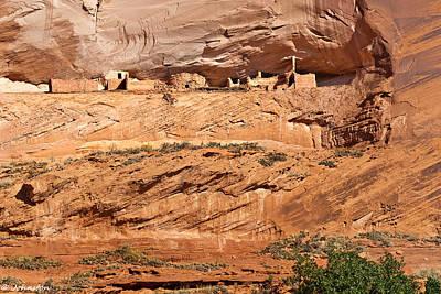 Digital Art - Canyon Dechelly Pueblo Ruins by Bob and Nadine Johnston