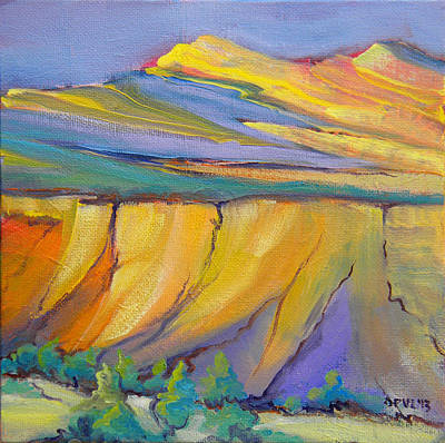 Pinion Painting - Canyon Dreams 33 by Pam Van Londen