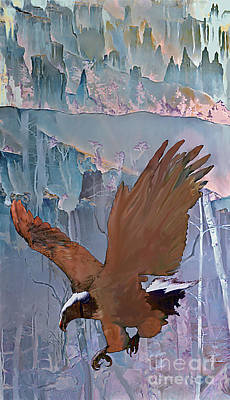 Canyon Flight Art Print by Ursula Freer