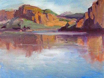 Canyon Lake Of Arizona Art Print by Mitzi Lai