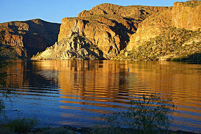Photograph - Canyon Lake Reflections by Broderick Delaney