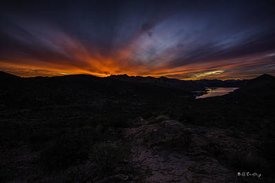 Canyon Lake Sunset Art Print by Bill Cantey