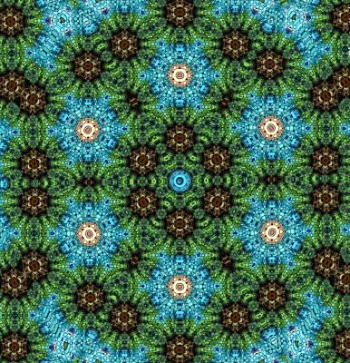 Digital Art - Canyon Lands Flower Mandala   by Karen Buford
