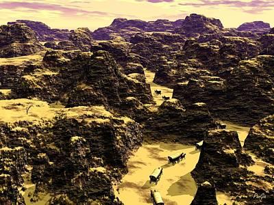 Conestoga Digital Art - Canyon Lands by John Pangia
