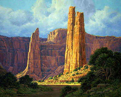 Reservation Painting - Canyon Light by Randy Follis