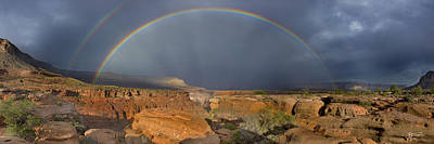 Double Rainbow Photograph - Canyon Of The Gods - Craigbill.com - Open Edition by Craig Bill