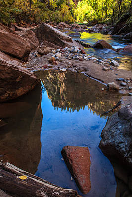 Keith Richards - Canyon Reflection by James Marvin Phelps