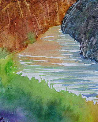 Grand Canyon Of Arizona Painting - Canyon Reflections by Melanie Harman