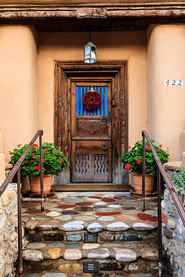 Photograph - Canyon Road Door by Ben Graham