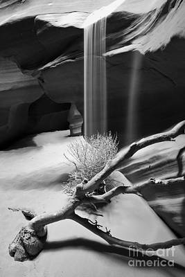 Art Print featuring the photograph Canyon Sandfall by Bryan Keil