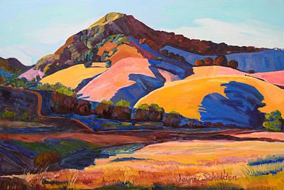 Canyon Shadows Johnson Ranch Trail Art Print