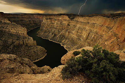 Wyoming Photograph - Canyon Storm by Doug Roane