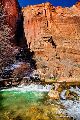 Photograph - Canyon Stream by Christopher Holmes