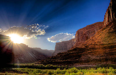 Canyon Sunset Art Print by William Wetmore