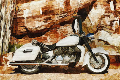 Two Wheeler Mixed Media - Canyon Twin by Daxton Farr