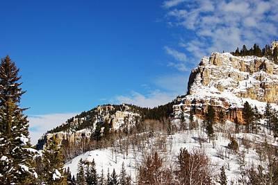Photograph - Canyon Walls In Winter White by Dakota Light Photography By Dakota