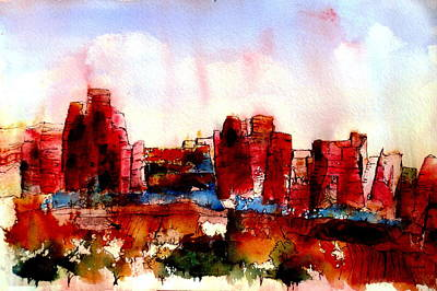 Print featuring the painting Canyonlands 02 by Anne Duke