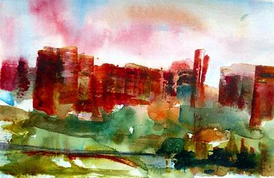 Print featuring the painting Canyonlands 03 by Anne Duke