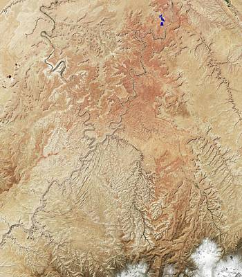 Canyonlands Print by Nasa Earth Observatory Image By Jesse Allen And Robert Simmon