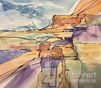 Painting - Canyons by Barbara Tibbets