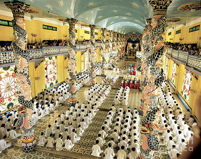 Cao Dai Grand Temple, Vietnam Print by Paul Stepan