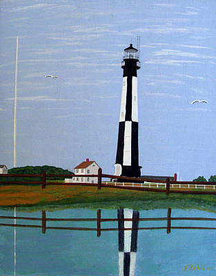 Painting - Caoe Henry Lighthouse by Frederic Kohli