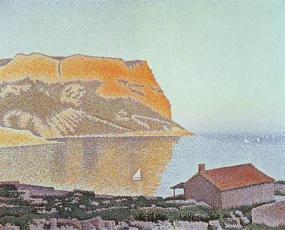 Nature Scene Painting - Cap Canaille by Paul Signac