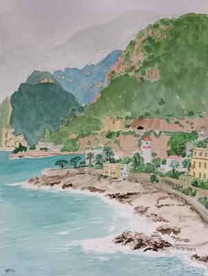 Painting - Cap D'ail After The Storm by Vera  Smith