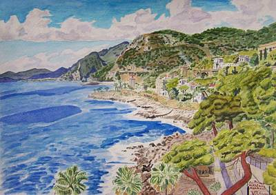Painting - Cap D'ail For Prince Abkhazi by Vera  Smith