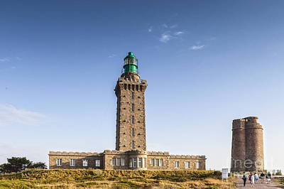 Photograph - Cap Frehel Lighthouse And Semaphore Brittany France by Colin and Linda McKie
