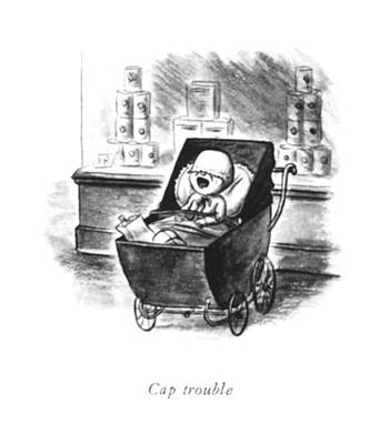 Crying Drawing - Cap Trouble by William Steig