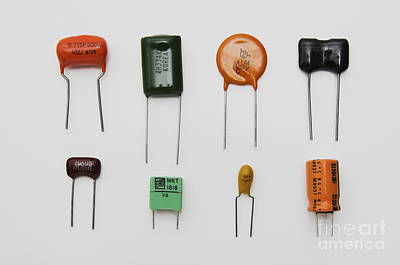 Electrolytic Photograph - Capacitors by GIPhotoStock