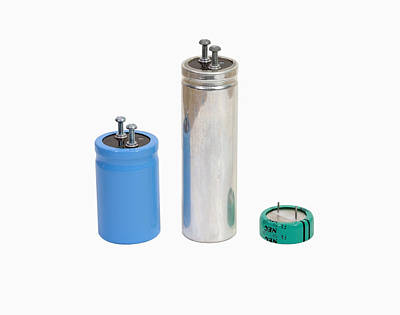 Capacitors Photograph - Capacitors by Science Stock Photography