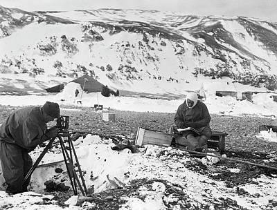 Tripod Photograph - Cape Adare Antarctic Exploration by Scott Polar Research Institute