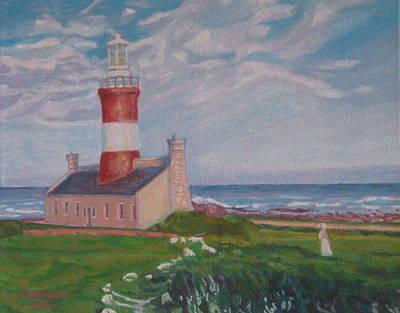 Cape Aghulas Lighthouse Art Print