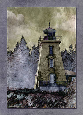 Photograph - Cape Bear Lighthouse by WB Johnston