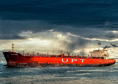 Cape Bird Oil  Chemical Tanker Art Print by Bob Orsillo