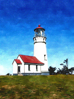 Sand Dunes Painting - Cape Blanco Lighthouse by Elaine Plesser