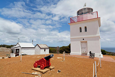 Cape Borda Light Station On Kangaroo Art Print by Martin Zwick