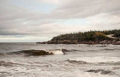 Briton Digital Art - Cape Briton Waves by Mary Louise Loyd