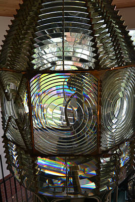 Photograph - Cape Canaveral Fresnel Lens 1 by rd Erickson