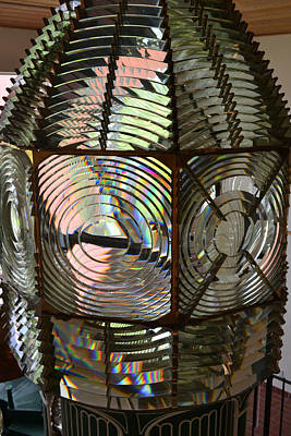 Photograph - Cape Canaveral Fresnel Lens 2 by rd Erickson
