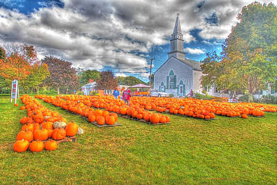 Cape Cod Americana   Fall Bounty On Cape Cod  Art Print