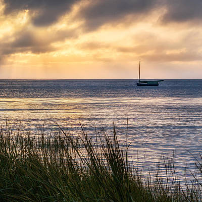 Cape Cod Bay Square Art Print by Bill Wakeley