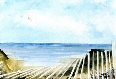 Cape Cod Bay Study #2 Art Print by Jennifer  Creech