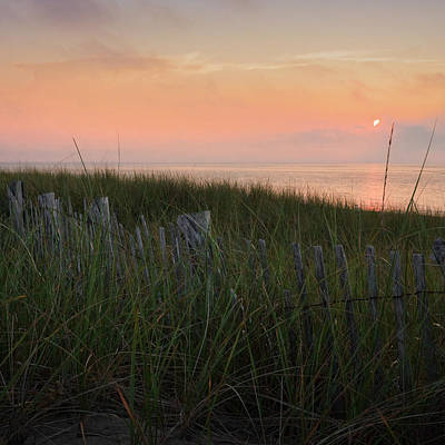 Provincetown Photograph - Cape Cod Bay Sunset Square by Bill Wakeley