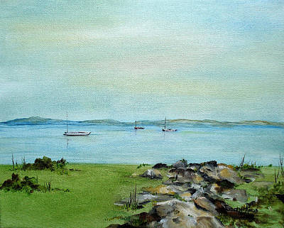Painting - Cape Cod  Boats by Judith Rhue