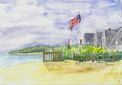Massachusetts -cape Cod Cottages Art Print by Christine Lathrop