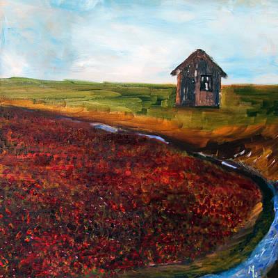 Cape Cod Cranberry Bog Art Print by Michael Helfen