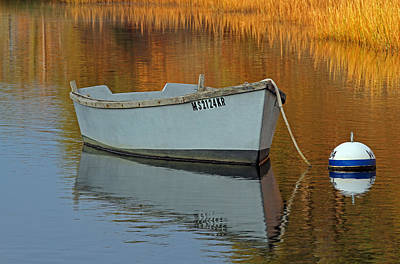 Cape Cod Harbor Dinghy Art Print